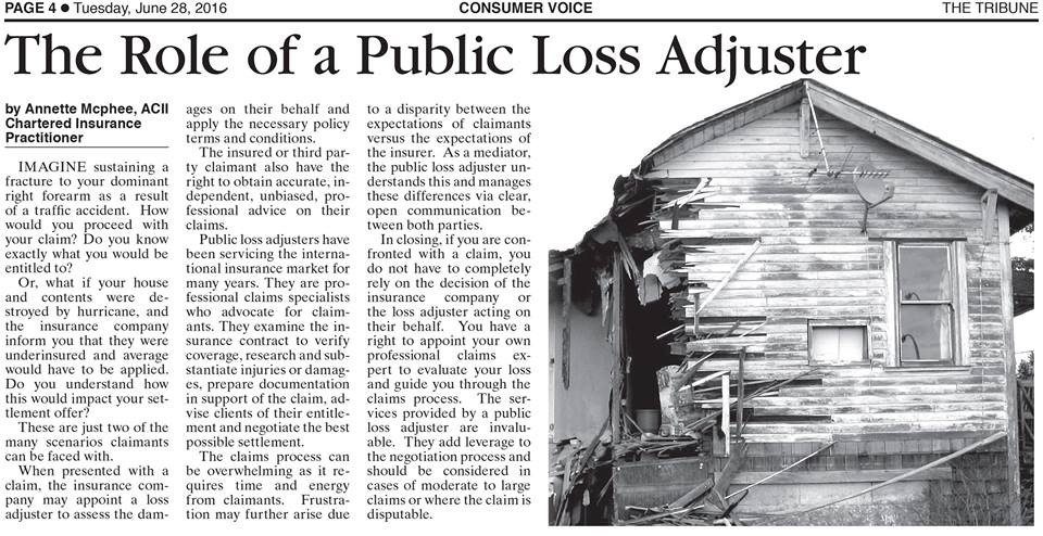 The Role of a Public Loss Adjuster Article